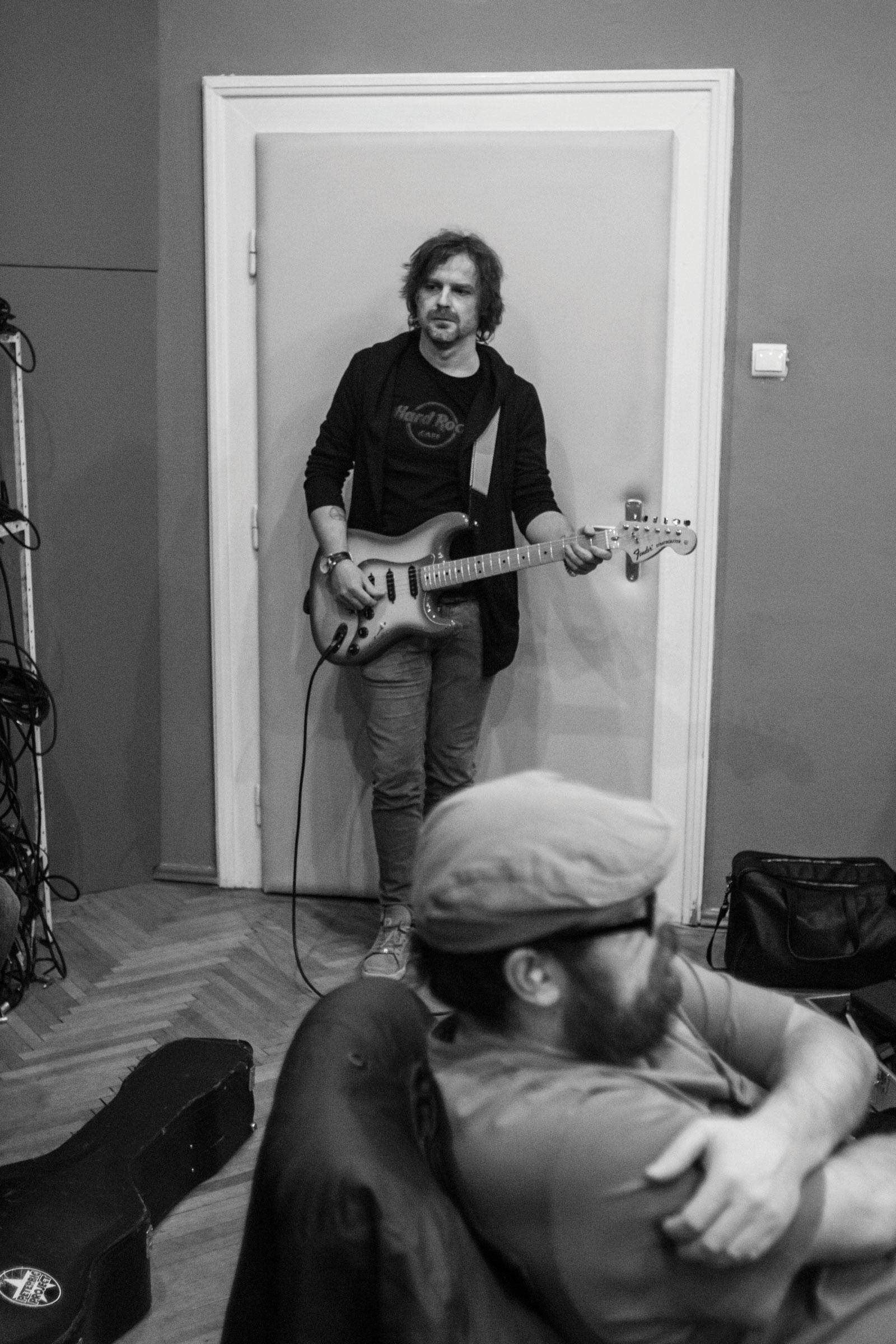 Lukáš Adamec - nahrávanie albumu - Peter Bič