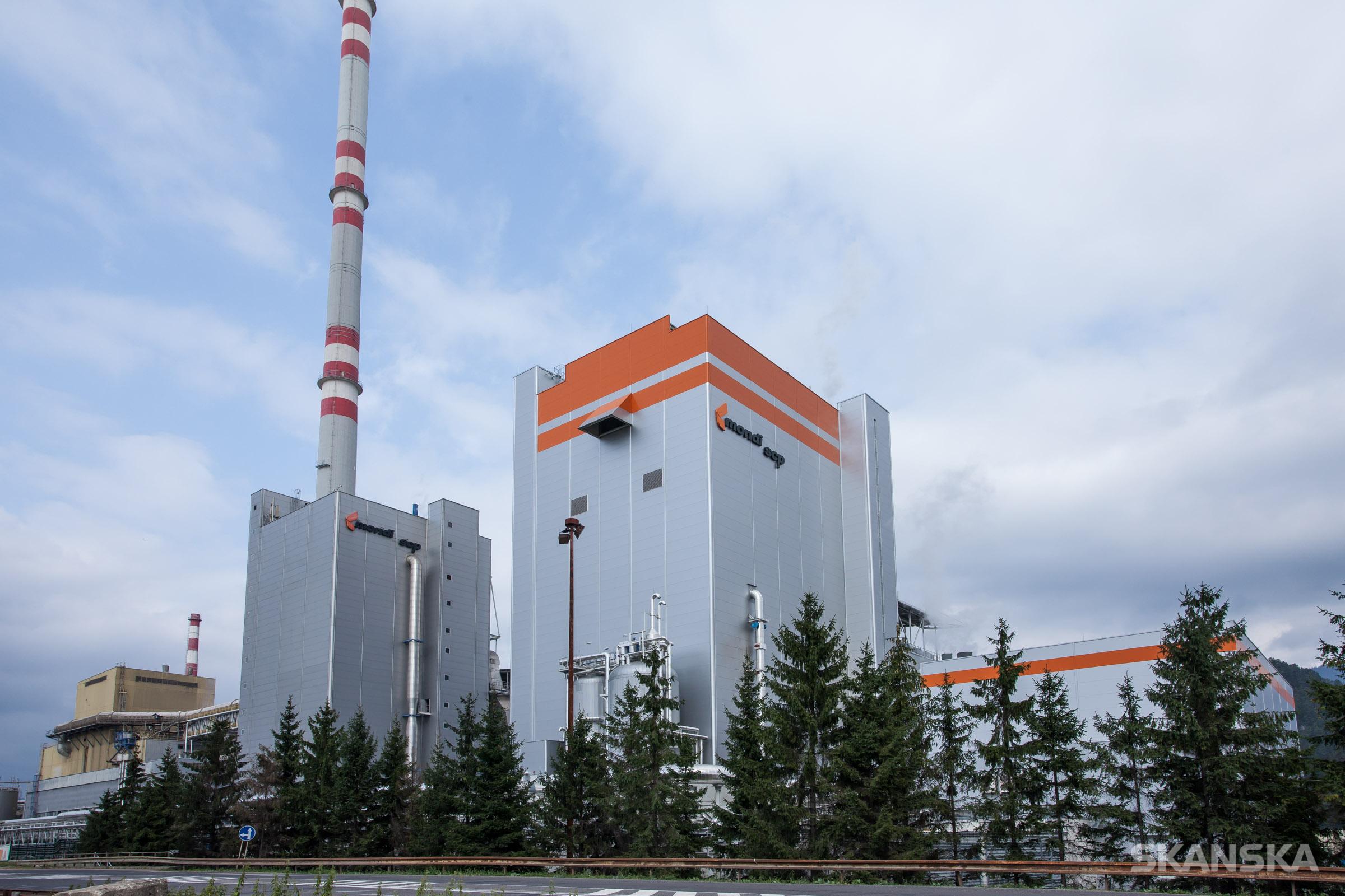 SCP Mondi regeneračný kotol - portfólio stavieb SKANSKA